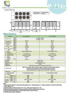 چیلر تراکمی هوا خنک مدل: SCA-80/100/HF2B