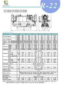 چیلر تراکمی آب خنک مدل: SCW-160/180/200/220/240/300EB2D