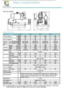 چیلر تراکمی آب خنک مدل: SCW-120~180HB1F