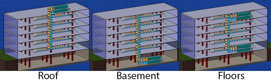 نقشه هواساز در آپارتمان ها